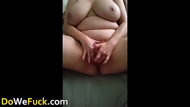 Woman with very big boobs lovely masturbate