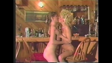 Two Chicks Play At The Bar