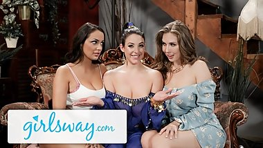 GIRLSWAY Angela White, Lena Paul & Sofi Ryan are STACKED