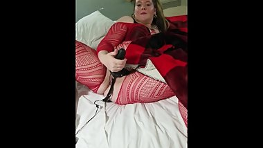 Strap Queen plays with big black dildo (teaser)