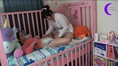 Sisters Cumming in Diapers