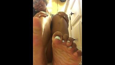 Coconut Oil Soles + Pussy Tease