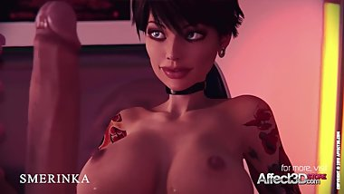 Sexy Futa animation with sex toys