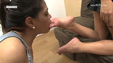 Sucking Carol Castro deep and hard