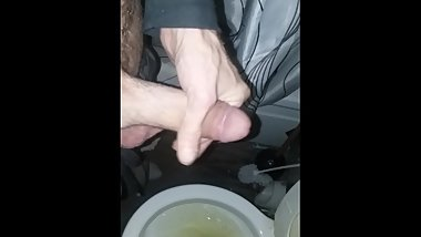 4k Late night piss turns into big dick cumming.