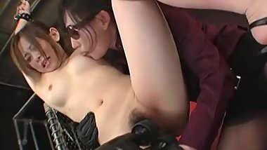 Japanese Femdom Lesbian Action With Bondage Toys And Orgasms