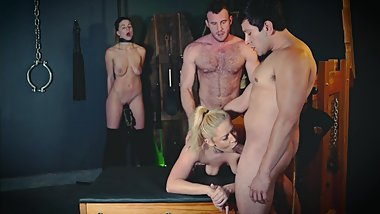 Cuckquean Foursome In The Sex Dungeon