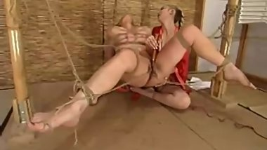 Carly Tied Lesbian Clit Clamp FrogTied Machine Fuck P1(More TeenPornMaster)