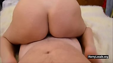 Fucking horny blonde reverse cowgirl