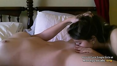 Lesbian friends desperately seek a big cock in homemade