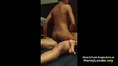 Hot blonde rubs on my cock in homemade video