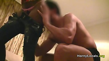 Fucking a Latin ebony at the hotel