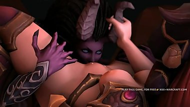 Lesbian 3d warcraft pussy licking