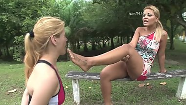 Claudia Loves Extremely dirty feet outdoors