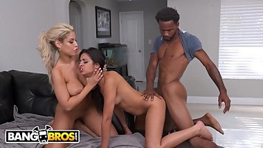 BANGBROS - MILF Stepmom Bridgette B and Vienna Black Share A Big Black Cock