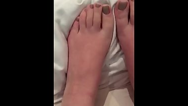 Spit, Cum, Lotion and Vape on teen feet