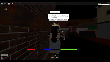 2 roblox lesbians make out in alley and other guys join in too