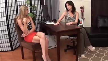 Lesbian socks foot worship in the office