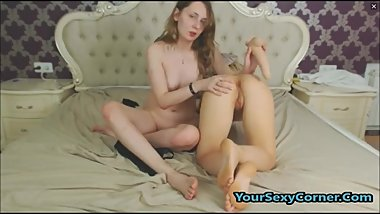 4 Young Russian Lesbians In Hot College Sex Party