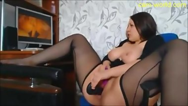 huge tits latina girl teasing on webcam