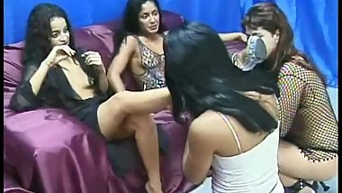 Brazil lesbian domination (2 Mistresses and 2 slaves)