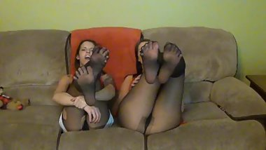 Nylon Foot Tease
