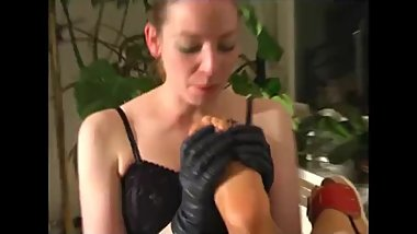 Leather Gloved Girl's Perverted Friend