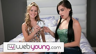 WebYoung Lesbian Virgin Lily Just Turned 18!