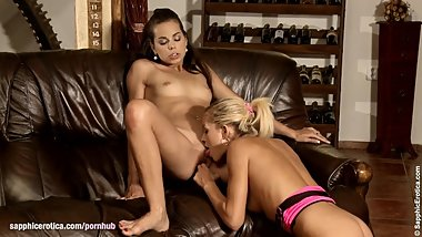 Sensual lesbian scene by Sapphix with Krissy and Sunshine - Sensational Ora