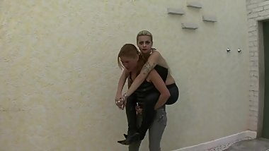 Slave girl lift and carry her lady