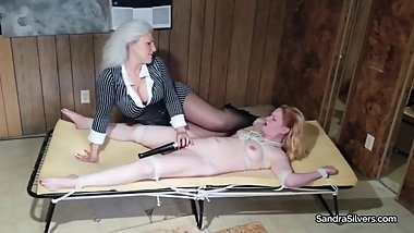 2330 Mobster MILF Gets Repayment (Bondage Orgasm Variety) from Naked Blond!