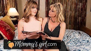 MommysGirl Shy Step-Daughter Learns Lesbian Sex from MILF
