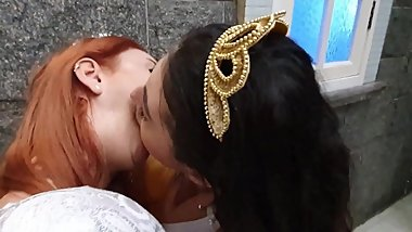 PRINCESS BRUNA and PRINCESS MARINA HOT HUNGRY HARD DEEP TONGUE SUCK KISS.