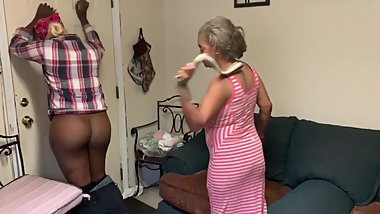 Gabriella gets a hard spanking for not cleaning the kitchen